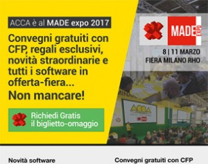 ACCA a MADE expo 2017: richiedi il biglietto-omaggio