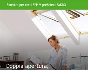 Nuova finestra per tetti FPP-V preSelect FAKRO