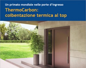 Nuova porta d'ingresso ThermoCarbon Hormann: efficienza energetica al top