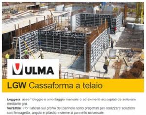 Cassaforma a telaio LGW: robusta, versatile e leggera