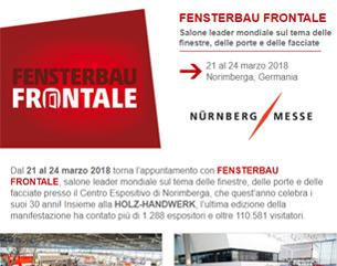 FENSTERBAU FRONTALE 2018: Il salone. Finestre. Porte. Facciate.