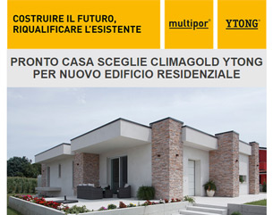 Pronto Casa sceglie ClimaGold Ytong per nuovo edificio residenziale