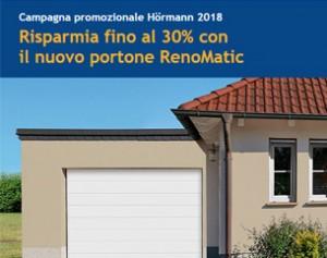 Risparmia fino al 30% con il portone RenoMatic 2018 Hormann