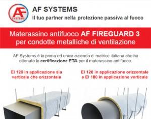 Materassino antifuoco per condotte di ventilazione – AF Systems