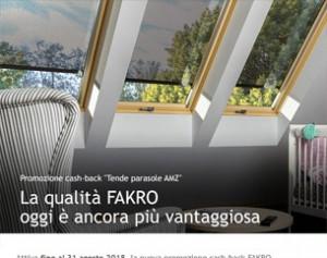 Nuova promozione cash-back FAKRO
