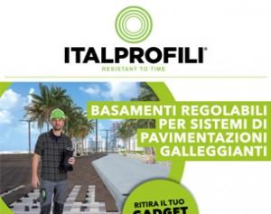 Basamenti regolabili per pavimentazioni galleggianti Italprofili