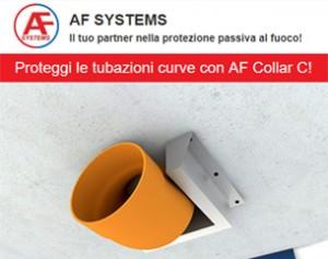 AF Collar C – Il collare antifuoco in acciaio inox per tubazioni curve