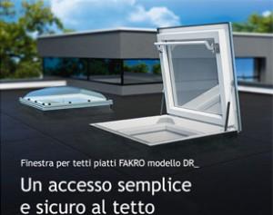 Nuova finestra per tetti piatti FAKRO modello DR_