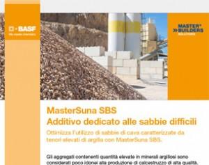 MasterSuna SBS di BASF: l'additivo per le sabbie argillose