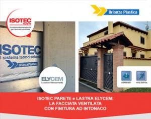 Facciate ventilate con finitura ad intonaco: Isotec Parete con Elycem