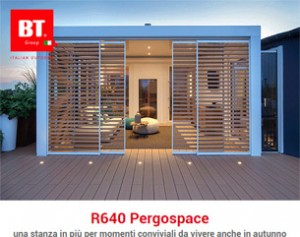 R640 PERGOSPACE: pergola bioclimatica autoportante in alluminio