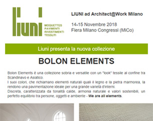 Scopri la nuova collezione Bolon Elements by Liuni