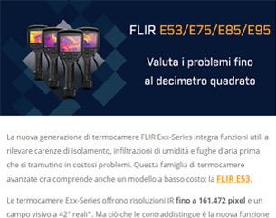 FLIR Exx-Series, per valutare i problemi fino al decimetro quadrato