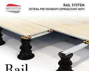 RAIL SYSTEM – Il sistema di supporti per pavimenti misti tile e decking
