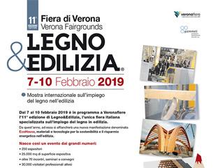 Legno&Edilizia 2019 dal 7 al 10 febbraio 2019