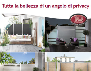 Nuovi pannelli privacy per giardini e terrazzi