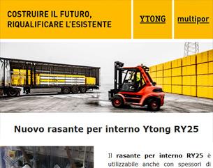 Nuovo rasante per interno RY25: riduce tempi e costi