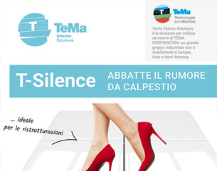 Ristrutturazioni: T-Silence, l'isolante acustico per rumori da calpestio