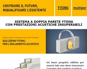 Il sistema a doppia parete Ytong per l'isolamento acustico