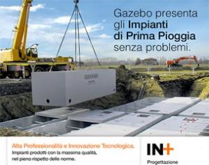 Impianti Prima Pioggia Gazebo. Qualità certificata e progettazione gratuita