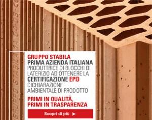 Gruppo Stabila, 1° EPD in Italia dei blocchi di laterizio
