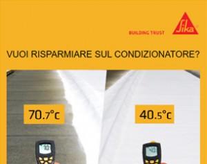 Con Sikalastic 530 Reflex abbassi la temperatura da 70 a 40 gradi!