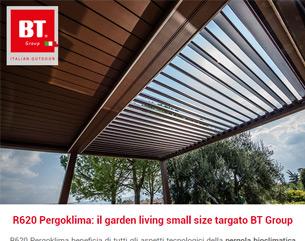 Pergola bioclimatica per il Garden Living