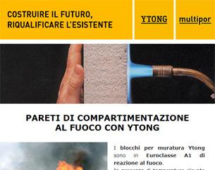 Elevata resistenza al fuoco con i blocchi Ytong