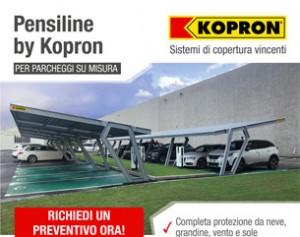 Pensiline per auto by Kopron, la soluzione che cercavi