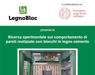 Report sperimentale su pareti realizzate con blocchi cassero in legno cemento