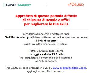 GoPillar + Infobuild – 70% su tutti i video-corsi