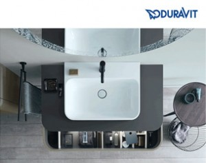 Happy D.2 Plus di Duravit: nuovi lavabi c-bonded e c-shaped