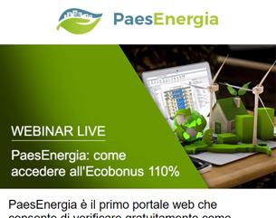 Webinar: Entra in PaesEnergia e scopri come accedere all'Ecobonus 110%