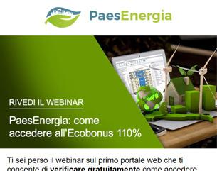 PaesEnergia: come accedere all'Ecobonus 110% – Rivedi il webinar