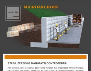 Stabilizzazione manufatti controterra – MicroAnchors by Uretek