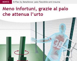 Betafence: nuovo palo flessibile anti-trauma per campi sportivi