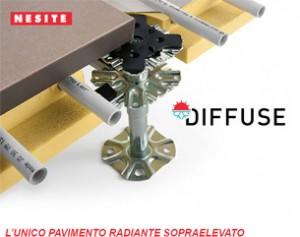 Diffuse, la massima evoluzione dei pavimenti sopraelevati accessibili radianti