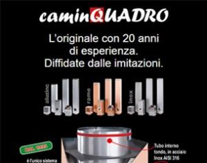 Sistema di canne fumarie Caminquadro: innovazione ed estetica