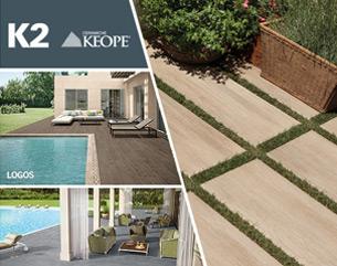 K2 di Ceramiche Keope. Il sistema di pavimenti in gres porcellanato con spessore 2 cm