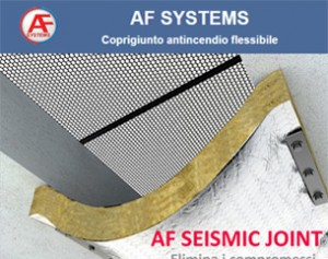 AF Seismic Joint, il coprigiunto antifuoco EI 120 flessibile