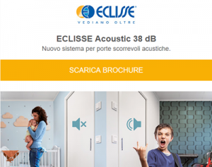 Novità ECLISSE: porta scorrevole acustica