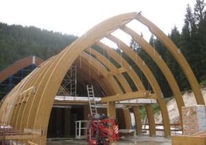 Campo Base Tognola – San Martino di Castrozza (TN): esempio di attitudine alla prefabbricazione – archi principali