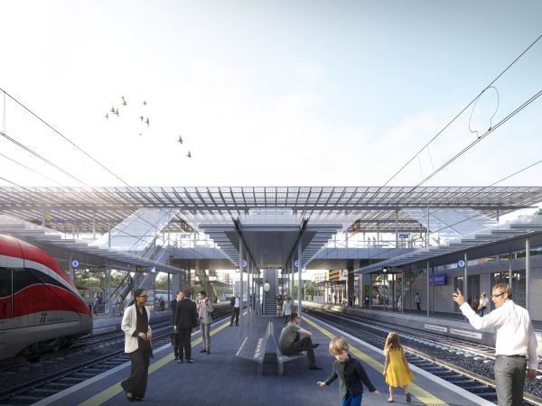 nuova stazione ferroviaria di Sesto San Giovanni che è anche un ponte