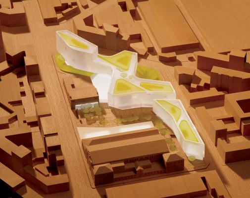 Plastico del progetto nel quartiere Aurora di Torino