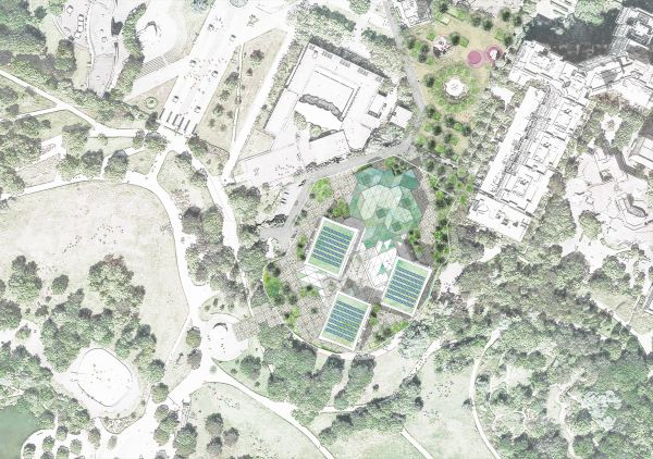 Planimetria generale della zona in cui sorge l'Ecole d'Architecture de Nanterre