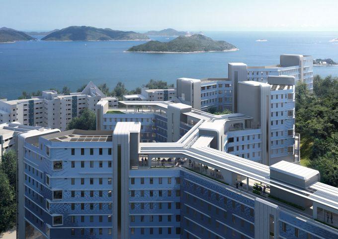 Il tetto pedonale del nuovo studentato alla Hong Kong University of Science and Technology