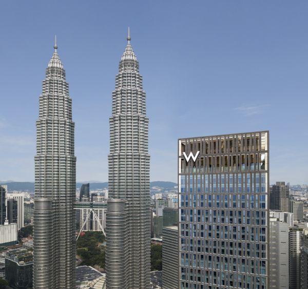 La facciata principale del W Kuala Lumpur