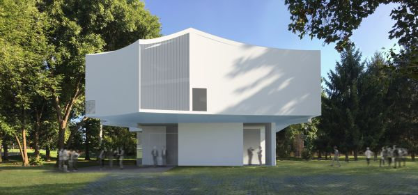 Render del Visual Arts Center di Lancaster