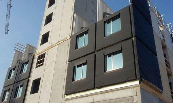 MOXY HOTEL LINATE, posa dei moduli tridimensionali prefabbricati