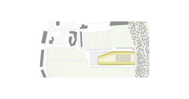 Planimetria del complesso sportivo del palaghiaccio di Brunico